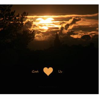 Corazón de dios nosotros esculturas fotográficas