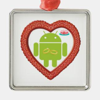 Corazón de Droid del insecto (amor) torta del rosa Ornamente De Reyes