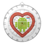 Corazón de Droid del insecto (amor) torta del rosa Tablero De Dardos