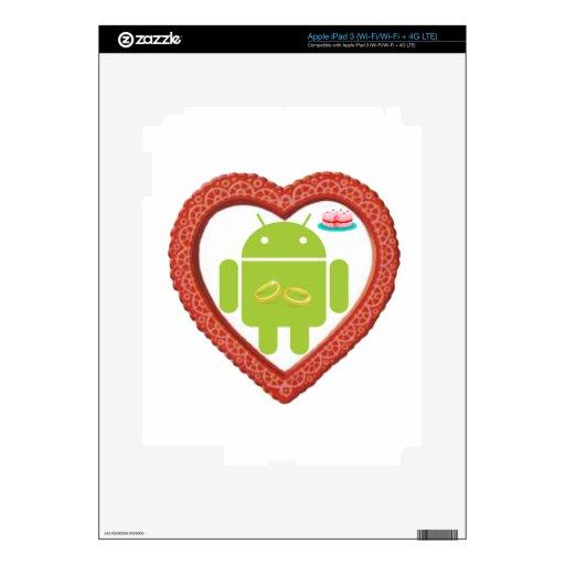 Corazón de Droid del insecto (amor) torta del rosa Pegatina Skin Para iPad 3