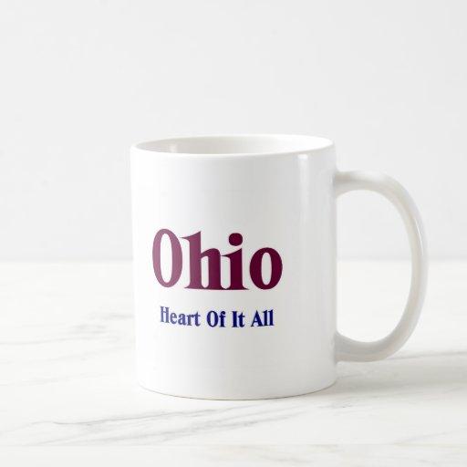 Corazón de él todo de Ohio Taza De Café