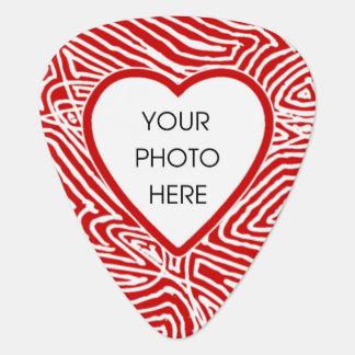 Corazón de encargo de la foto de Scribbleprint Plumilla De Guitarra