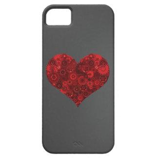 Corazón de engranajes iPhone 5 cobertura