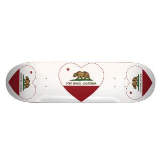 corazón de Fort Bragg de la bandera de California Patines Personalizados