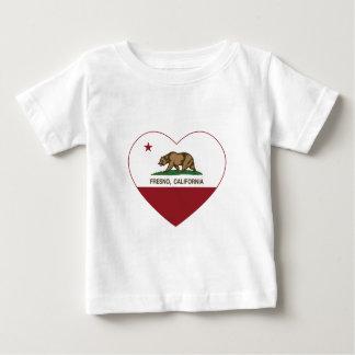 corazón de Fresno de la bandera de California Playera De Bebé