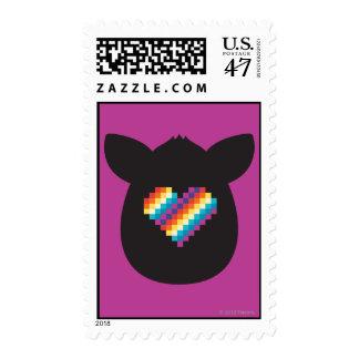 Corazón de Furby Sello Postal