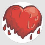 corazón de fusión etiquetas redondas