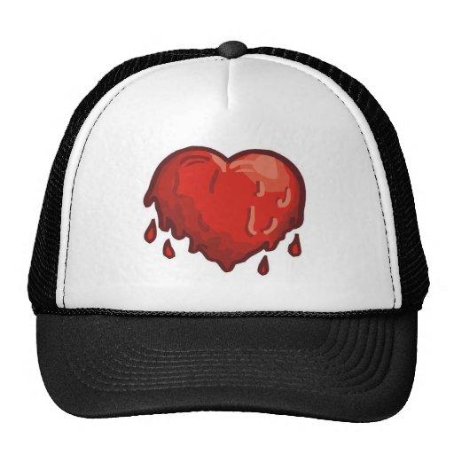 corazón de fusión gorros bordados