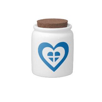 Corazón de Grecia Jarras Para Caramelos