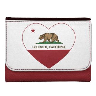 corazón de Hollister de la bandera de California