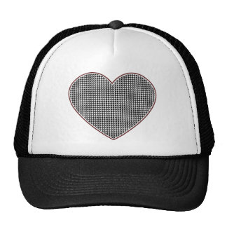 Corazón de Houndstooth (Tuscaloosa, Alabama) Gorras De Camionero