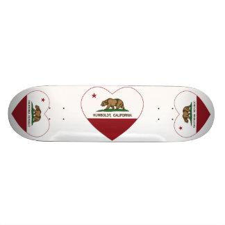 corazón de Humboldt de la bandera de California Patin Personalizado