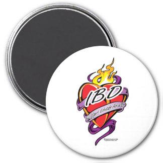 Corazón de IBD Imán Redondo 7 Cm
