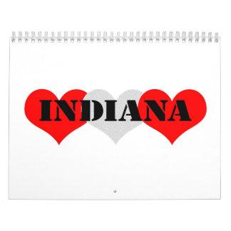 Corazón de Indiana Calendarios