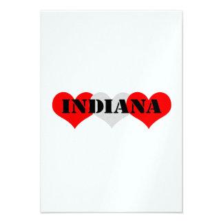 Corazón de Indiana Invitación