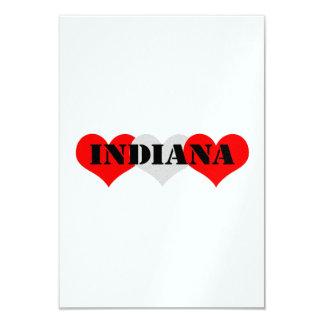 """Corazón de Indiana Invitación 3.5"""" X 5"""""""