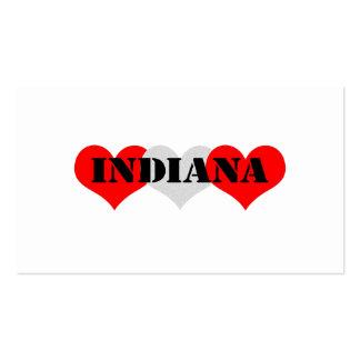 Corazón de Indiana Plantillas De Tarjeta De Negocio