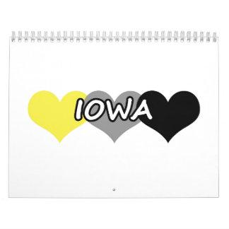 Corazón de Iowa Calendarios De Pared
