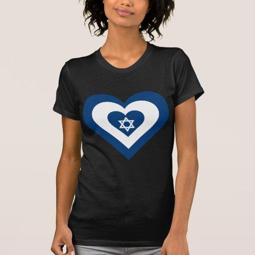 Corazón de Israel Camiseta