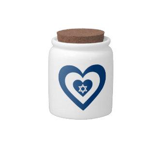 Corazón de Israel Jarra Para Caramelo