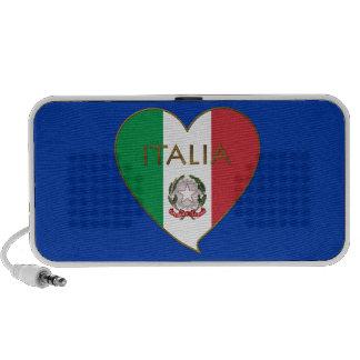 Corazón de ITALIA bandera tricolor ITALY SOUVENIR Altavoz De Viaje