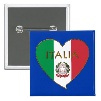 Corazón de ITALIA bandera tricolor ITALY SOUVENIR Pin