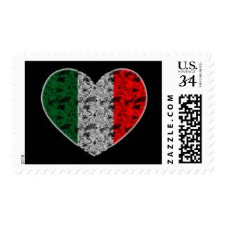 Corazón de Italia Estampillas