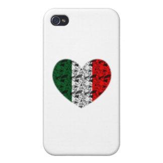 Corazón de Italia iPhone 4 Carcasa