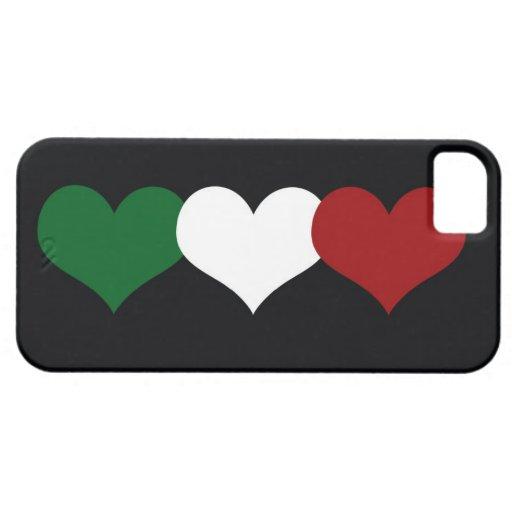 Corazón de Italia iPhone 5 Case-Mate Protectores