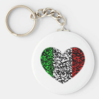 Corazón de Italia Llavero Redondo Tipo Pin