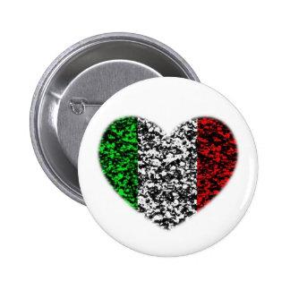 Corazón de Italia Pin Redondo 5 Cm