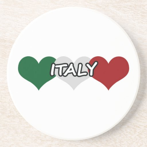 Corazón de Italia Posavasos De Arenisca