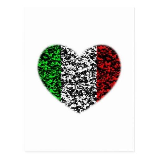 Corazón de Italia Tarjeta Postal