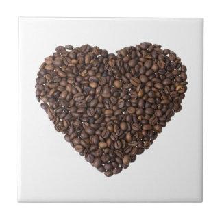 Corazón de Kaffeebohnen Azulejo
