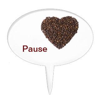 Corazón de Kaffeebohnen Decoraciones Para Tartas