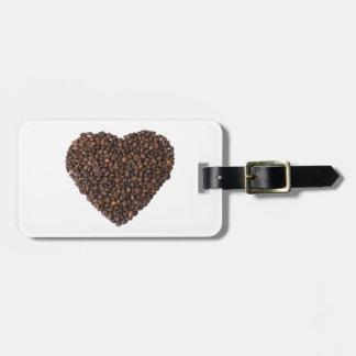 Corazón de Kaffeebohnen Etiquetas Para Equipaje