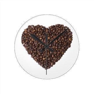 Corazón de Kaffeebohnen Reloj