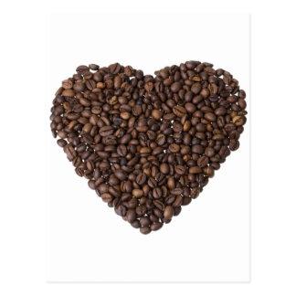 Corazón de Kaffeebohnen Tarjetas Postales