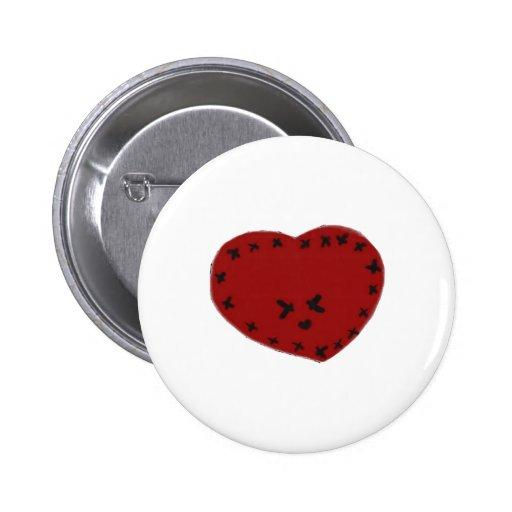 Corazón de Kawaii Pin Redondo 5 Cm
