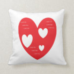 Corazón de la almohada
