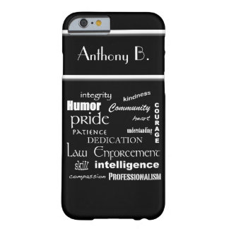 Corazón de la aplicación de ley/diseño funda para iPhone 6 barely there