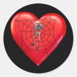 Corazón de la araña etiquetas redondas