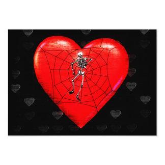 Corazón de la araña invitación 12,7 x 17,8 cm
