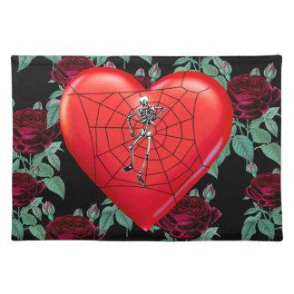 Corazón de la araña manteles individuales