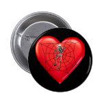 Corazón de la araña pins