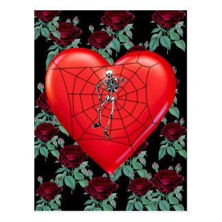 Corazón de la araña tarjetas postales