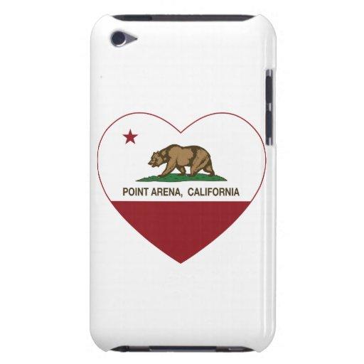 corazón de la arena del punto de la bandera de Cal iPod Touch Coberturas