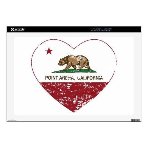 corazón de la arena del punto de la bandera de Cal Skins Para 43,2cm Portátiles