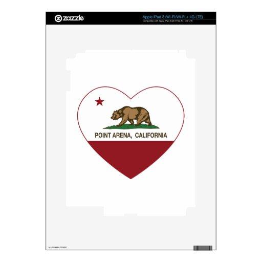corazón de la arena del punto de la bandera de Cal iPad 3 Pegatina Skin
