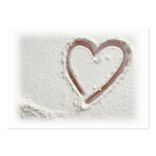 Corazón de la arena tarjetas de negocios